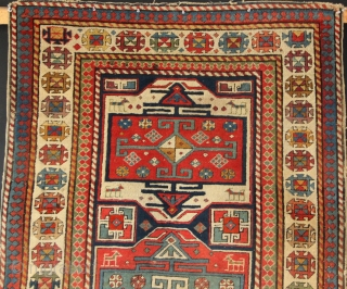 Very fine antique Moghan runner, circa 1880, in as found condition. 99 x 284cm. Generally good pile, with rough edges. Some moth damage, very dirty etc etc. Camel wool highlights.