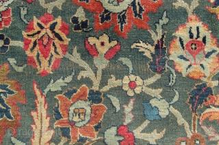19th century 18 x 13 Tabriz Allover design, great condition.