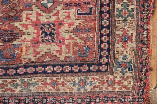 19th century Shahsavan soumac bagface, as seen. Excellent , fine weave, all natural dyes. 72 x 66cm