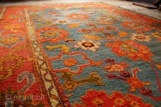 """Antique Oushak carpet 8'7"""" x 12'0"""""""