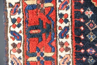 """Full pile, almost mint condition mid 19th century Hashtrud or Karadja gallery carpet 4'0"""" x 12'6"""""""
