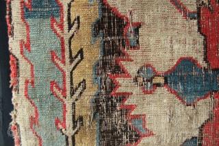 "18th century Kuba Blossom fragment 1'4"" x 2'1"""