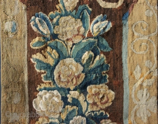 "18th century Flemish or French Tapestry fragment 20"" x 86"""