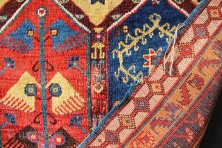 "Mid 19th century Mekri rug, Western Anatolia, as is. 4'4"" x 7'4"" / 132 x 223cm"