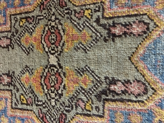 "Antique Rabat Rug. 19th Ca Morocco.  64""x46"""