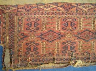 Antique Kejebe torba with yellow kelim back