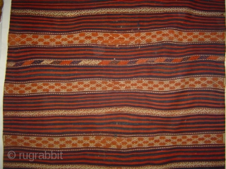 Large West Anatolian Yuncu kelim, 150 x 325 cm.  A rare 19th century nomad weaving in good condition, with a good provenance. -- For more images see http://www.rugrabbit.com/node/128320