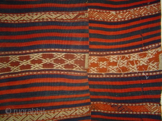 West Anatolian Yuncu Bands and Stripes Long Kilim, 150 x 325 cm.