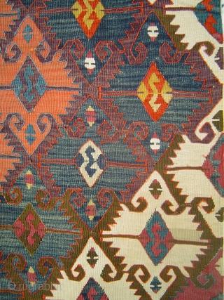 Antique Anatolian kilim panel. Possibly Aksaray.