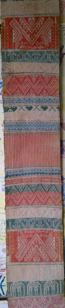 Rarely seen South East Asian textile, 26 x 285 cm. Handspun cotton embroidery on very fine handspun cotton gauze. It seems to have some age, circa first half 20th century. I  ...