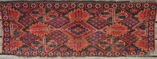 Energetic Ersari torba. 51 x17 inches. Very huggable. At reduced price. Please see my other Turkmens.