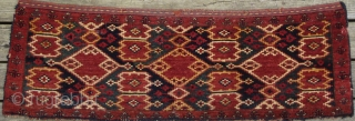 Unusual Central Asian torba with zappy graphix. Very good condition. Late 19th/early 20th century. see my other Turkmen pieces: http://www.rugrabbit.com/profile/511