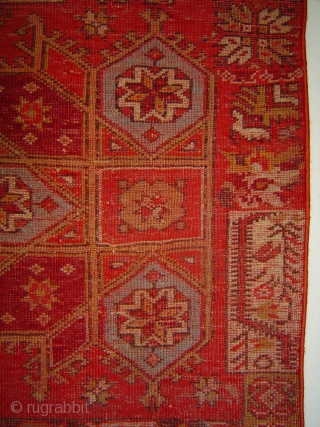 Anatolian yastik vagireh with Crivelli Star. Sui generis at a reduced price.