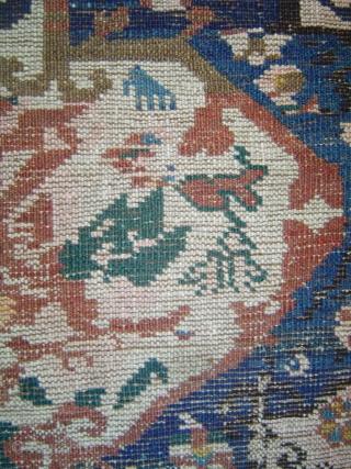 "KUBA ""Sport"" Fragment, Azerbaijan, Kuba-Seikhur region, late 19th century or pre-World War One.123 x 173 cm   (48.5 x 68 inches)Warp: 2-ply ivory wool Weft: 2-ply wool, range of browns, 2 passes.  ..."