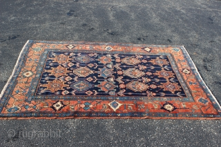 1910-1920s Persian Heriz 4'7'' x 6'7''.  Excellent condition with all natural colors.  Last couple knot rows on each end re-woven.