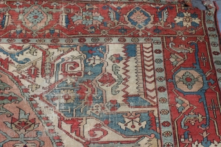 Estate Serapi 8'11'' x 12'3'' - Ebay auction https://www.ebay.com/itm/Antique-Persian-Heriz-Serapi-Carpet-9-x-12/142589261127 