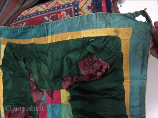 Around 1900 Tibetan temple umbrella fabric, s, size 66 cmx66cm price concessions