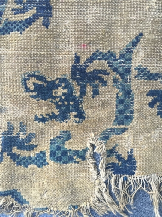 Around the year 1800 China ningxia rugs, s, size 73 cmx60cm, $120 including shipping fee, welcome to consult!