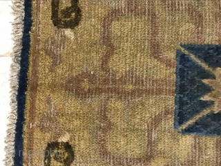 Ningxia temple mat blanket, in the early 19th century, size 70x67cm, welcome to consult!
