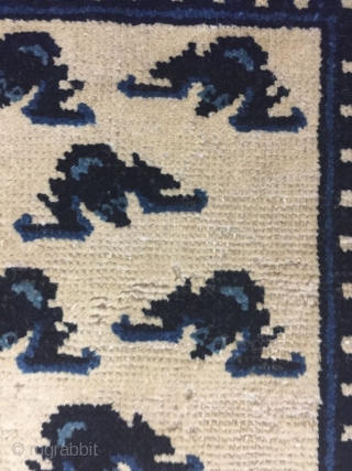 Inner Mongolia small carpet, about 1900 the size of 56x55Cm, price preferential consultation