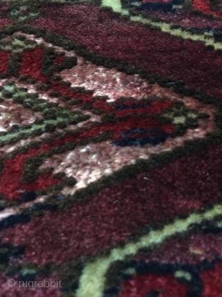Turkmen Torba with Some Silk  Good Condition  Size : 78 x 30