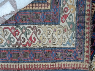 Talish shirwan rugs size 345/103 cm  second half 19.century  very fin  but damage need repair very rare parts