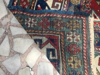 Lezghi kasak rare size 204/160 cm need repair nice color