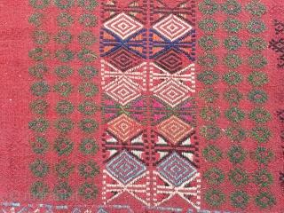 Karapınar cicim fragment  over the 140 years old all natural color hıgh quality
