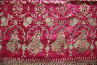 A beautiful full-length Ghaghra (skirt) cloth from Kutch, Gujarat.