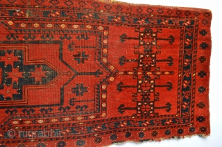 Beautiful and Big Archaic Patern 19th century Turkoman Trapping stunning all natural colors