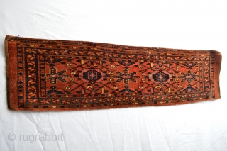 Un common type of  Antique Ersari Trapping with many silk highlights probably Dowry ( because the many silk ) beautiful colors and patern end 19th century or circa 1900's....