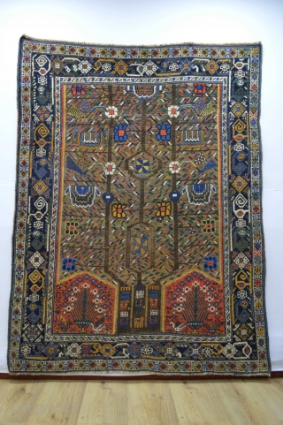 Gorgeous Antique Neyriz Patern Afshar 