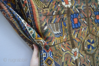 Gorgeous Antique Neyriz Patern Afshar  100% Wool on wool foundation and Beautiful good Colors.. Size is   about 200 x 150 centimeters spots of low area see picture 8  cleaned and washed  ...