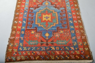 Fabulous Antique Northwest Persian Heriz Area Long Rug 19th century