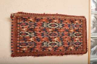 Beautiful Antique Yomud Mirror Bag Good colectible and Rare patern.