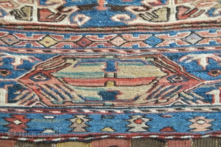 Extraordinary  19th century Shahsavan Bag,Probably Khamseh area Beautiful natural colors with Fuchisine Highlights to indeicate the age