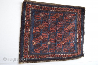 Extraordinary Design for attentive eye's, end 19th century Baluch Bagface with many SSS Dragongs in Style :) 67 x 57 centimeters