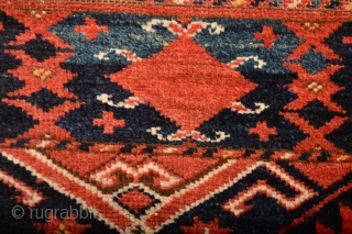 Gorgeous Probably Middle Amu Derya Region Ersari with Cochinille Silk Highlights. 19th century Beautiful Mostly full pile wool. Stuning Patern. Some Spots of old Glue on backside ends. size is appox 170  ...
