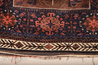 Full pile !!Very fine knoted Bow and Arrow Border Antique Baluch Bagface 