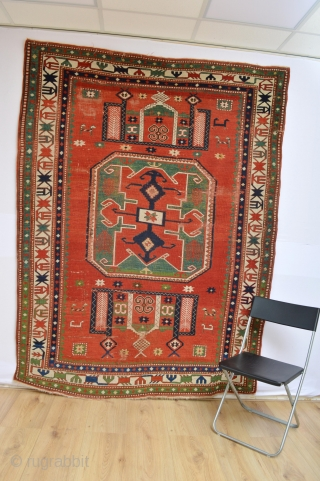 Beautiful Antique Lori Pambak with rare mihrab patern