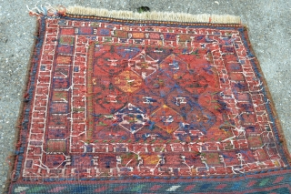 Colorful Antique Luri/Bahtiyar Bag face. Full piled and very good wool. some area repairs. size 71 x 62 cm