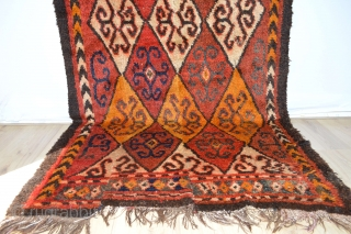 Beautiful Antique Tent Sleeping Rug  ( Julkury ) thick Glossy Wool with 