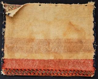 United Colors of Rare Antique Kurdi khorjin Size 66 x 50 centimeters with  original back