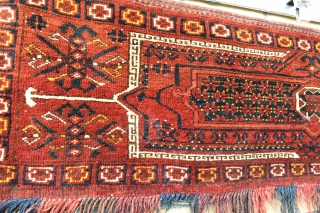Very Decorative Antique Turkoman made By Ersari's Nice colors and wool.