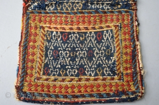Antique Dimutive Sumak Original... compleet condition khorjin bag.Top qualty soft wool.. size approx 22 x 45 centimeters