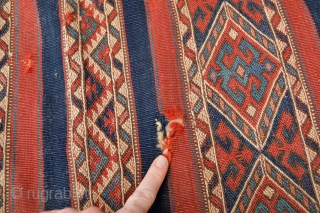 Beautiful and colorful Antique West Anatolian Chuval Bergama Area  