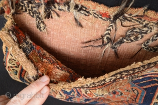 Beautiful 19th century Afshar Chanteh or small bag..  All Natural stunning Collors. size 28 x 43 centimeters as found fresh and collection ready original backing