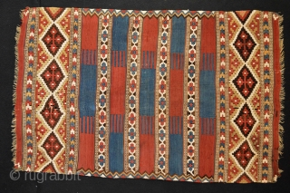 Beautiful Antique Manastir Kilim, from the Balkan area