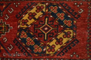 Very Rare Antique Arab Uzbek Chuval bagface  , Great Design, Great Colors,Great Wool,  just washed and cleaned. Fiesta for Eyes...