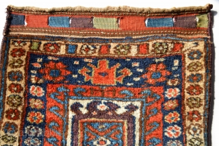 Gorgeous Antique Full pile and Meaty Kurdish Bagface with beautiful purple in the center aprox size 62 x 59 centimeters